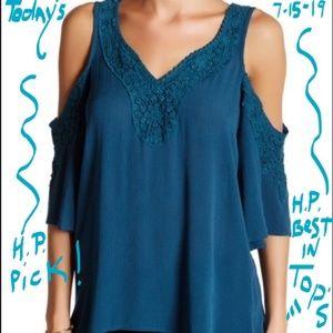Love on a hanger shirt peek a boo shoulder NWT